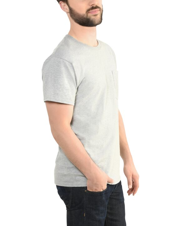Men's 360 Breathe Short Sleeve Pocket T-Shirt, Extended Sizes Steel Gray Heather