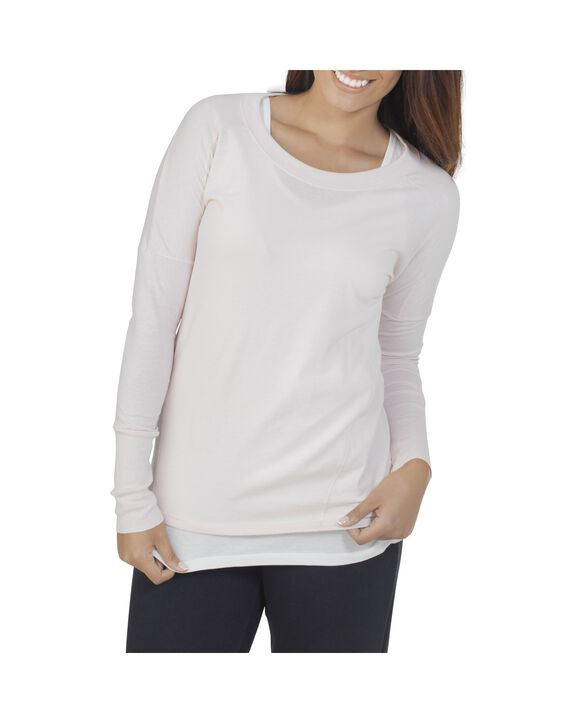 Women's Essentials Long Sleeve Scoop Neck T-Shirt, 1 Pack Cashmere Heather