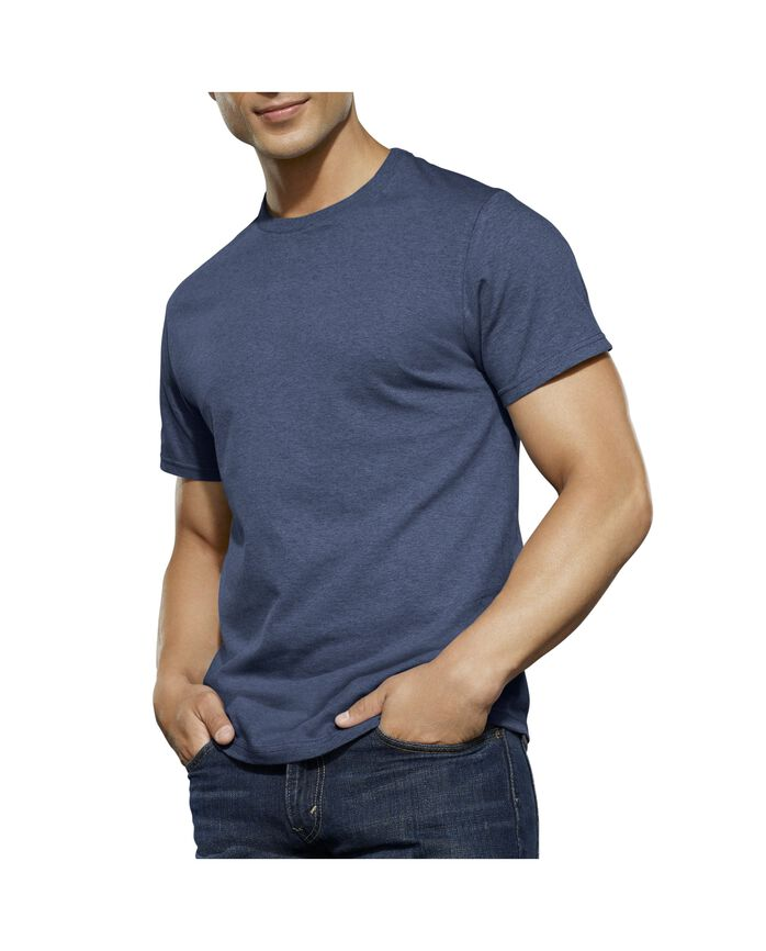 Men's Dual Defense® Assorted Crew Neck T-Shirts, 4 Pack, Extended Sizes