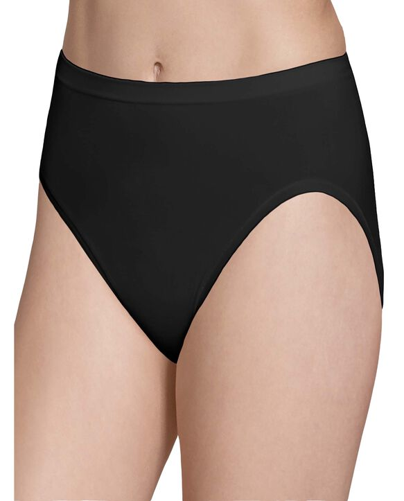 Women's Seamless Hi-Cut Panty, 6 Pack Assorted