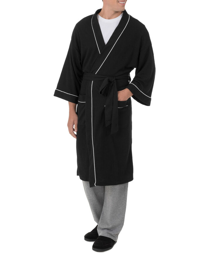 Men's Soft Touch Waffle Robe, 1 Pack, Size 2XL