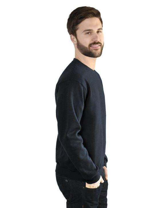 Men's EverSoft Fleece Crew Sweatshirt, Extended Sizes, 1 Pack Black Heather