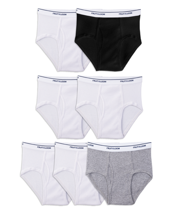 Boys' Assorted Wardrobe Briefs, 7 Pack