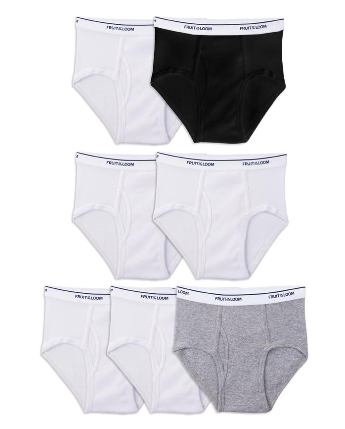 Boys' Assorted Wardrobe Briefs, 7 Pack