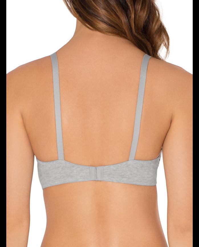 Women's T-Shirt Bra, 2-pack BLACK/ HEATHER GREY