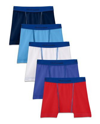 Toddler Boys' Cotton Stretch Boxer Briefs, 5 Pack