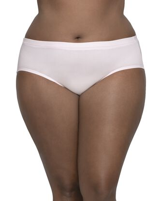 Women's Plus Fit for Me Breathable Cotton-Mesh Brief Panty, 6 Pack