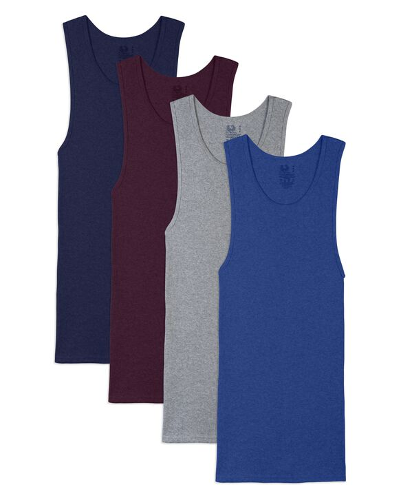 Men's Assorted A-Shirts, Size 3XL, 4 Pack