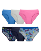 Girls' Assorted Microfiber Hipster Panty, 6 Pack