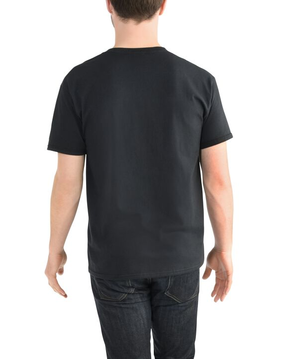 Big Men's EverSoft V-Neck T-shirt, 1 Pack Black