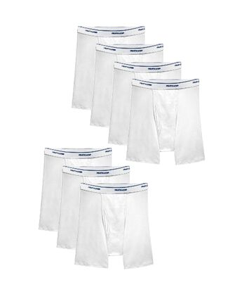 Men's CoolZone® Fly White Boxer Briefs, 7 Pack