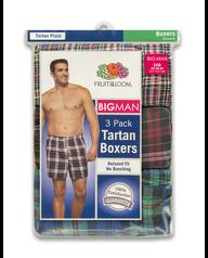 Men's 3 Pack Big Man Boxer Assorted
