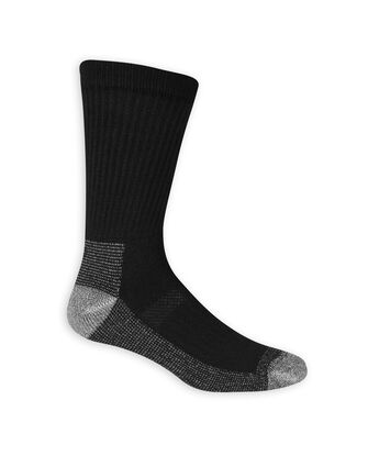 Men's Work Gear Crew Socks, 6 Pack