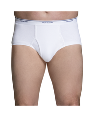 Men's 6 Pack Classic White Brief Extended Sizes White