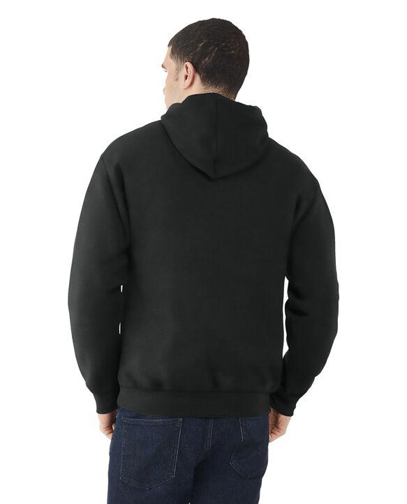 Men's EverSoft Fleece Pullover Hoodie Sweatshirt, 1 Pack Rich Black