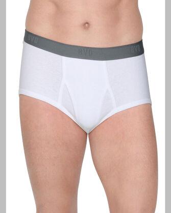 BVD Men's White Cotton Brief, 7 Pack