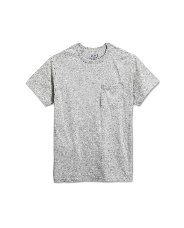 Men's 4 Pack Black Pocket T-Shirt Extended Sizes - Fruit US