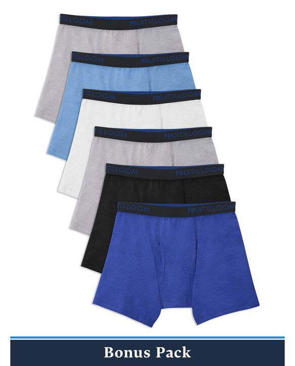 Boys' Breathable Cotton Boxer Briefs, 6 Pack
