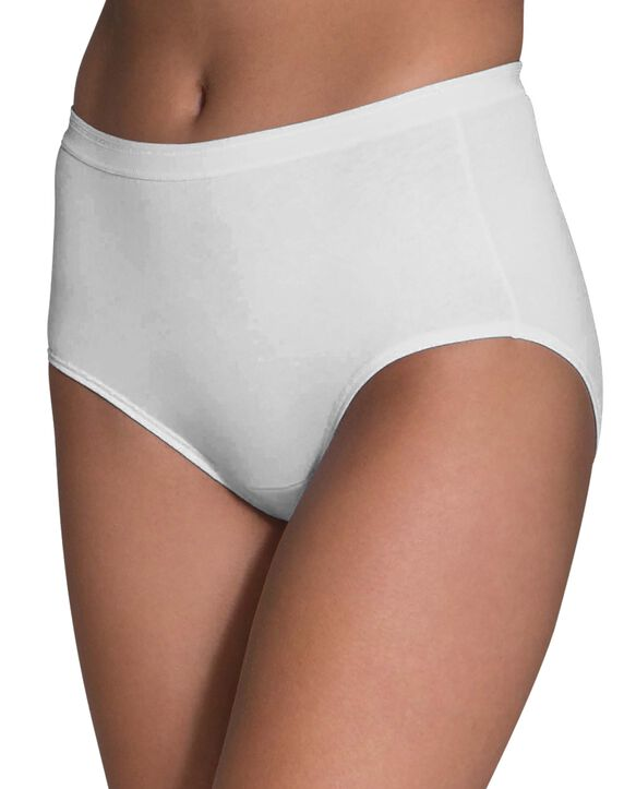 Women's White Cotton Brief, 3 Pack White