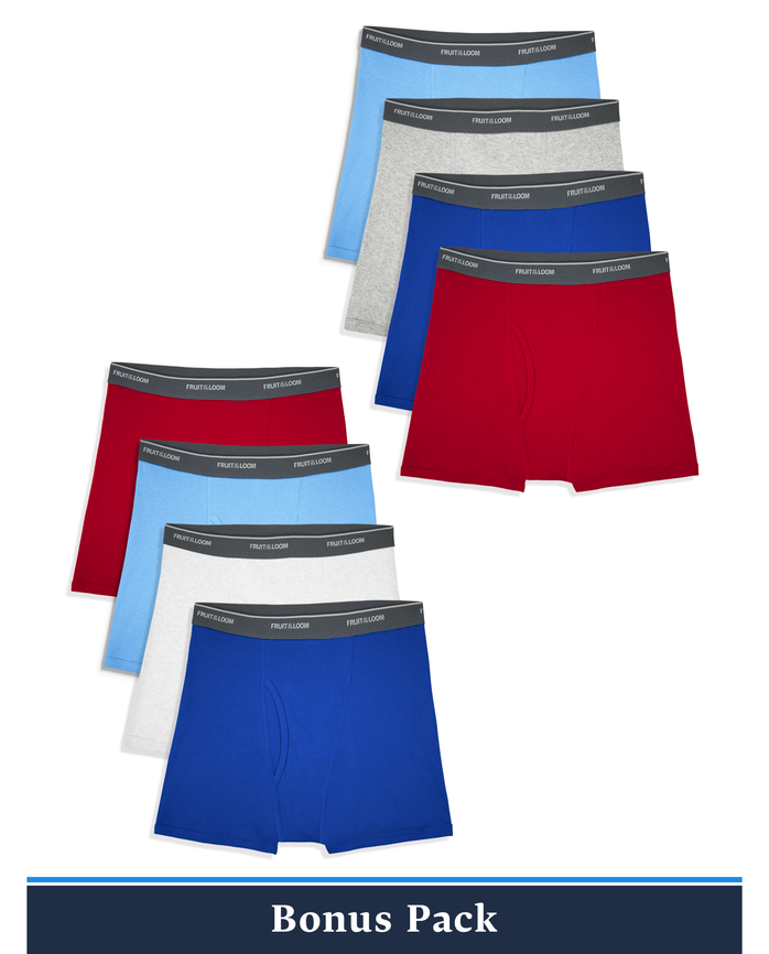 Boys' Assorted Boxer Briefs, 8 Pack
