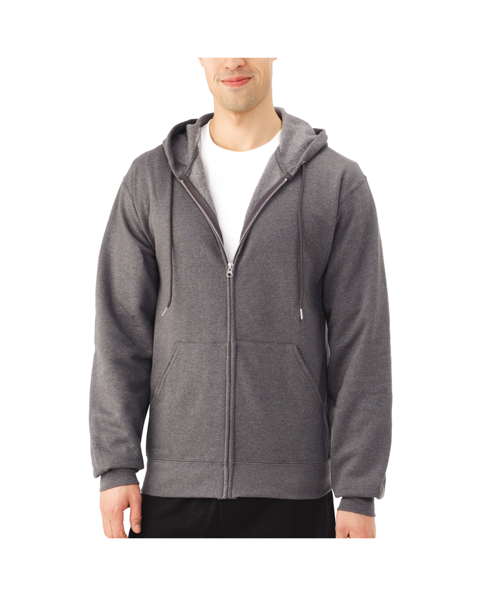 Big Men's Dual Defense EverSoft Fleece Full Zip Hooded Sweatshirt