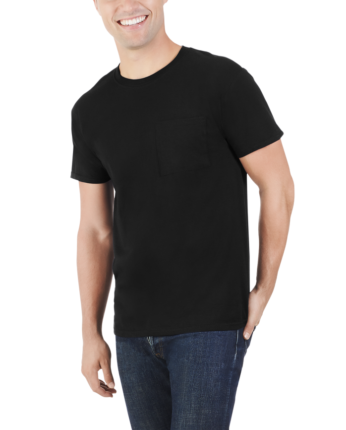 Men's Dual Defense® Pocket T-Shirt, 1 Pack Black