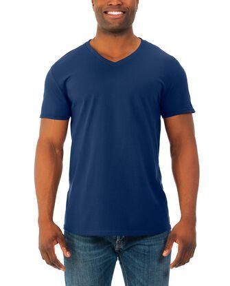 Soft Short Sleeve V-Neck T-Shirt, 4 Pack
