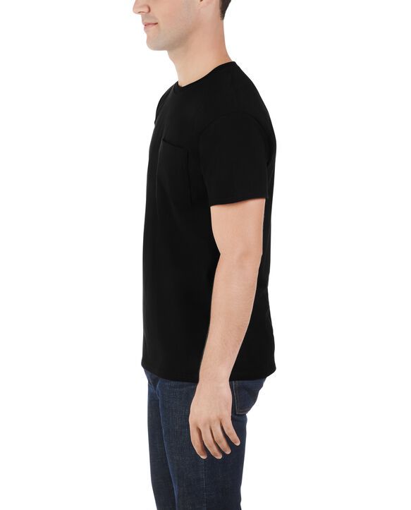Big Men's Dual Defense UPF Short Sleeve Pocket T-Shirt, 1 Pack Black