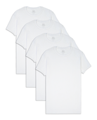 Men's CoolZone White Crew T-Shirts, 4 Pack, Size 2XL