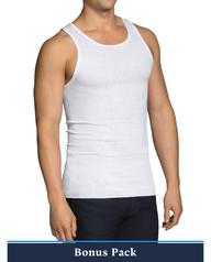 Men's Cotton White A-Shirts, 9 Pack