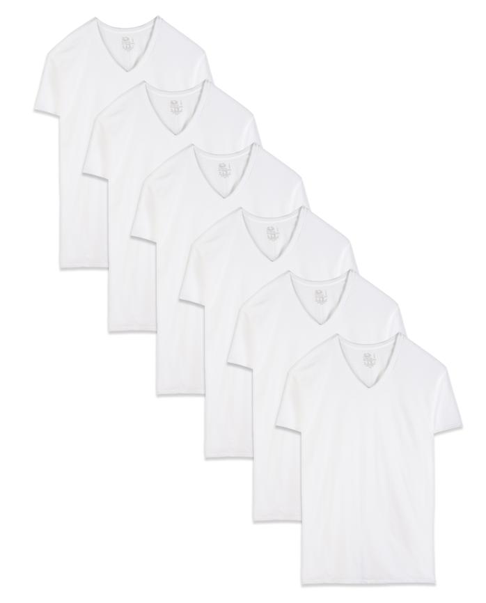 5341323a504 Images. Men s Dual Defense White V-Neck T-Shirts