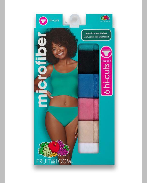 Women's Microfiber Hi-Cut, 6 Pack Assorted