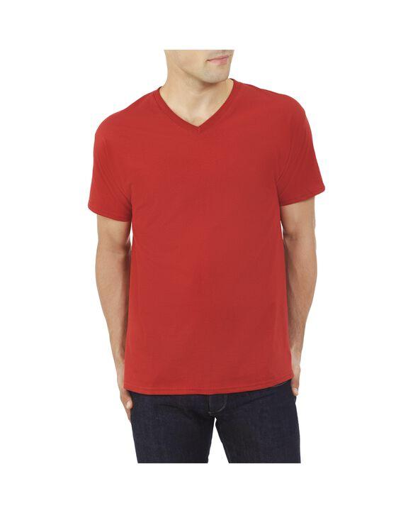 Big Men's EverSoft V-Neck T-shirt, 1 Pack Crimson