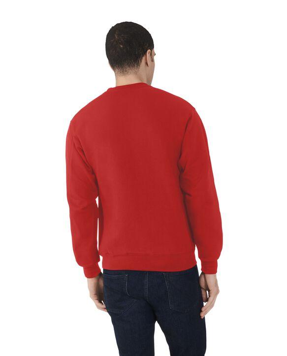Men's Fleece Crew Sweatshirt, 1 Pack True Red