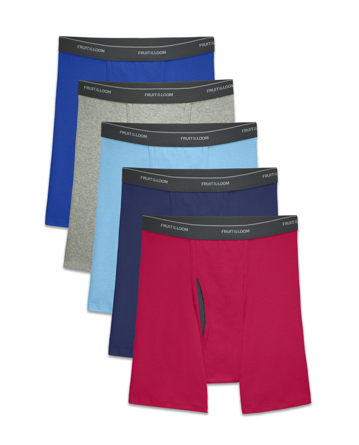 Men's COOLZONE Assorted Boxer Briefs, 5 Pack