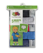 Toddler Boys' Assorted Fashion Brief, 5 Pack ASSORTED