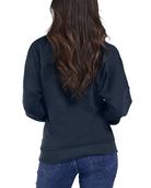 Women's Seek No Further Long Sleeve V-Neck Fleece Blouse Navy Nights