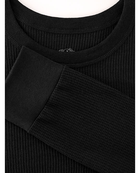 Men's Classic Thermal Underwear Crew Top Black