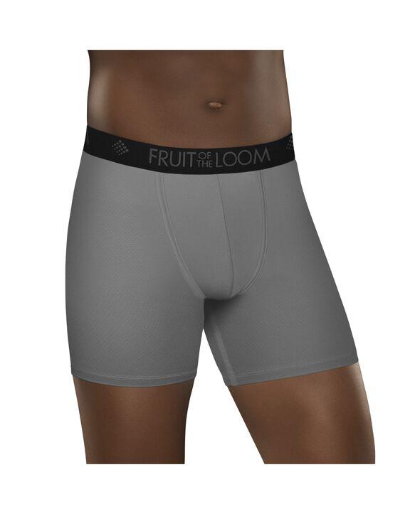 Premium Breathable Lightweight Micro-Mesh Boxer Briefs, 3 Pack - Black/Gray
