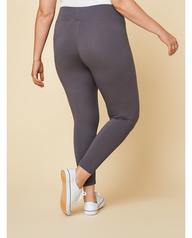 Women's Seek No Further Plus Size Wide Waistband Ponte Stretch Leggings Charcoal