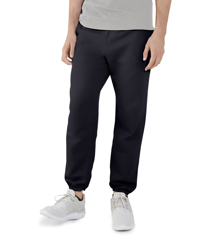 Big Men's EverSoft Fleece Elastic Bottom Sweatpants Black