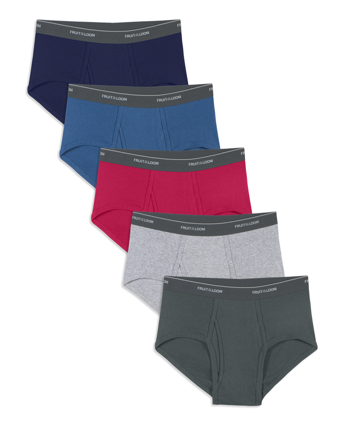 Men's Dual Defense Assorted Fashion Brief, 5 Pack, Extended Sizes Assorted