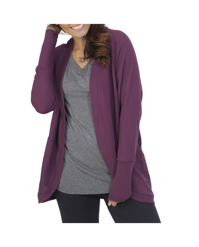 Women's Essentials Cocoon Wrap Cardigan, 1 Pack Beet