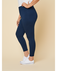 Women's Seek No Further Plus Size Wide Waistband Ponte Stretch Leggings Navy Nights
