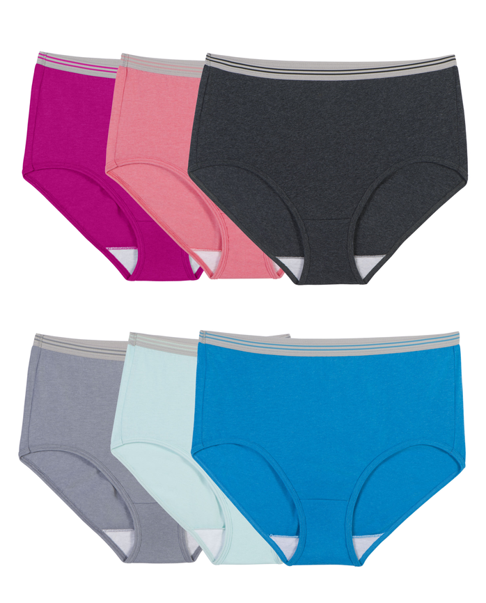 Women's Heather Brief, 6 Pack