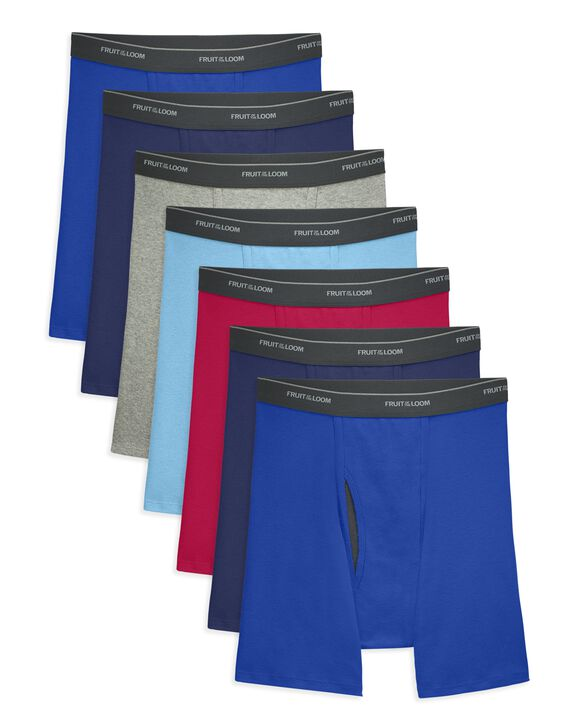 Men's CoolZone Fly Assorted Boxer Briefs, 7 Pack ASSORTED