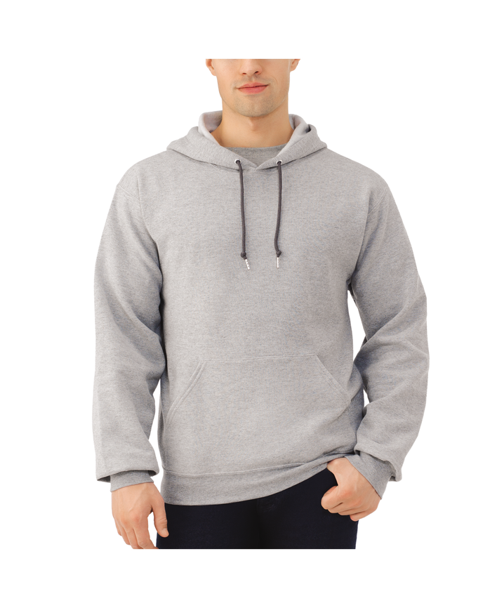 Men's Dual Defense EverSoft Pullover Hooded Sweatshirt, 1 Pack, Extended Sizes Steel Grey Heather