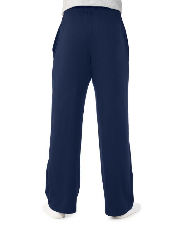 Men's Super Soft Fleece Open Bottom Sweatpants, 1 Pack J Navy