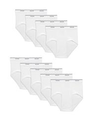 Men's Dual Defense Classic White Briefs, 9 Pack White