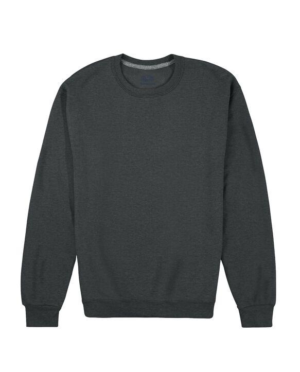 EverSoft Fleece Crew Sweatshirt, Extended Sizes, 1 Pack Black Heather